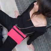 Colección primavera ⚘🌷🌼🌻🌿🌺 BOLSOS -RIÑONERA con asa intercambiable. Elige cadena, cinta de cuero, o cualquiera de las correas que quieras para darle otro estilo a tu bolsito. Realizado con tejido técnico, bolsillo interior, prenda multiposición.  @vernika7722  gracias infinitas por las fotos ❣  #modamujer #modaslow #hechoensevilla #handmade #urbanstyle #estilooriginal #newstyle #newcollection #coleccionprimavera #design